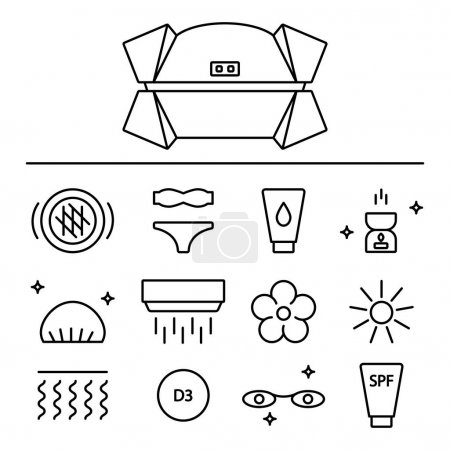 Set of Sun Tanning Icons