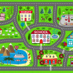 Постер, плакат: Road play mat for children activity and entertainment