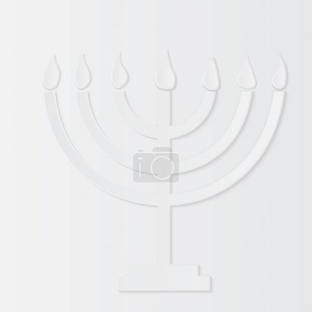 Holocaust Remembrance Day, paper menorah. Vector illustration