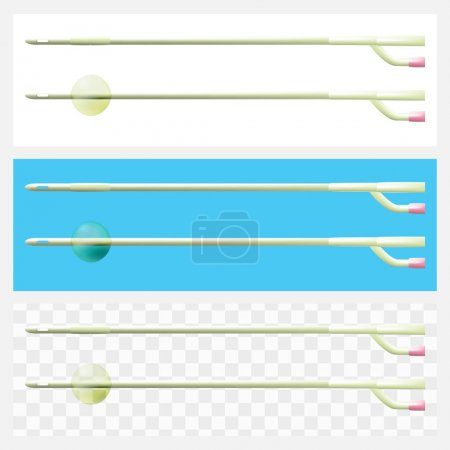 Foley balloon catheter 2-way for prolonged catheterization of th