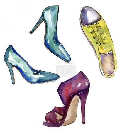 Fashionable accessories  glamour illustration. Clothes accessories set trendy vogue outfit.