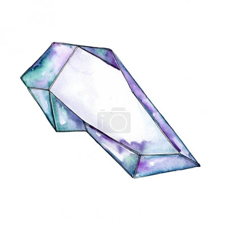 Blue diamond rock jewelry mineral.