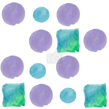 Photo for Colorful texture illustration pattern in a watercolor style. Aquarelle paper splash shapes isolated drawing. Abstract aquarelle for background, texture, wrapper pattern, frame or border. - Royalty Free Image