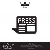 Press line icon vector illustration