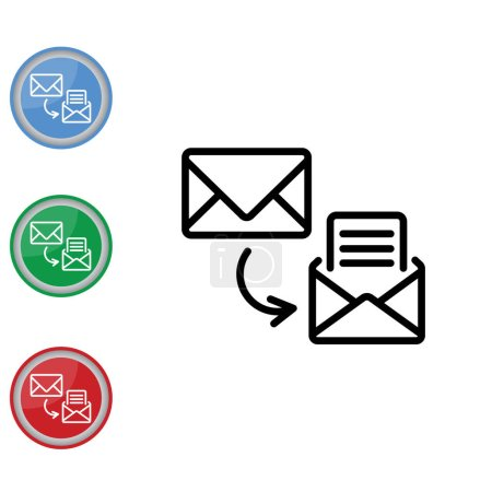 Vector illustration design of email icon...