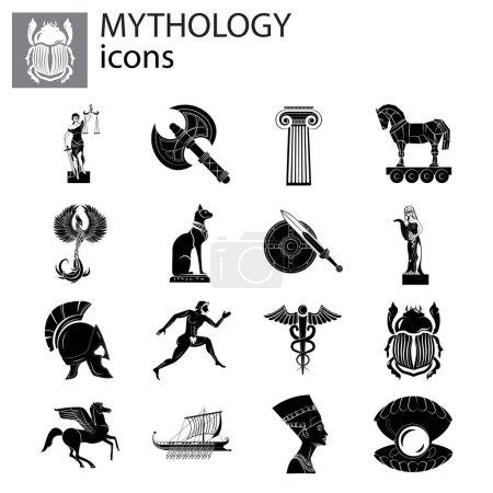 Mythology icon set