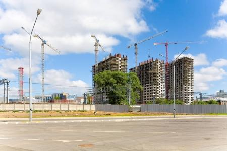 Construction of a new residential complex on the territory of th