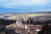 Castle of Segovia, a view from an observation deck at Cathedral of the city, Castilla and Leon, Spain.