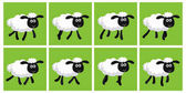 Cartoon trotting sheep animation sprite