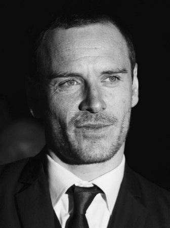 London, UK, 19th Jan 2012 ( Image digitally altered to monochrome ) Michael Fassbender for the London Film Critics Circle Awards held at the BFI in London.