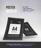 Magazine booklet or brochure perspective mockup templates Vector illustration