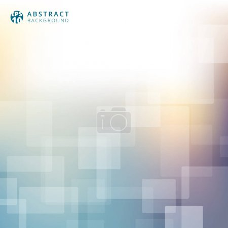 Abstract blurred background template. Technology business square