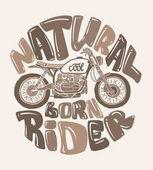 Cool motorcycle print design vector illustration