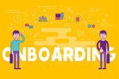 Employees onboarding concept HR managers hiring new workers for