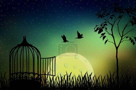 ins Mondlicht entlassen