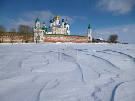 Monastery in winter