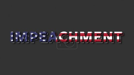Photo for American politics illustration associated with president Trump impeachment process - Royalty Free Image