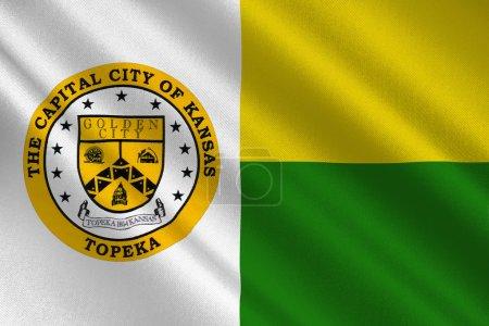 Flag of Topeka in Kansas, USA
