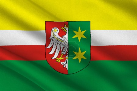Flag of Lubusz Voivodeship or Lubuskie Province in...