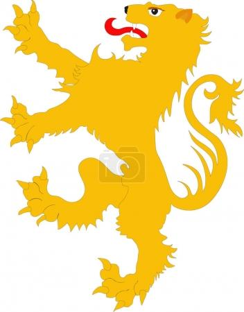 The rebels lion - the heraldic symbol