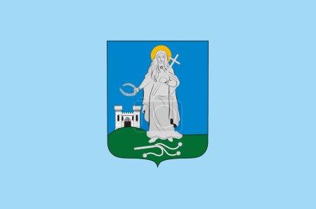 Photo pour Drapeau de Zalaegerszeg est le centre administratif du comté de Zala dans l'ouest de la Hongrie. Illustration 3d - image libre de droit
