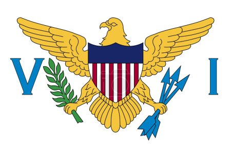 Flag of Virgin Islands of the United States is a g...