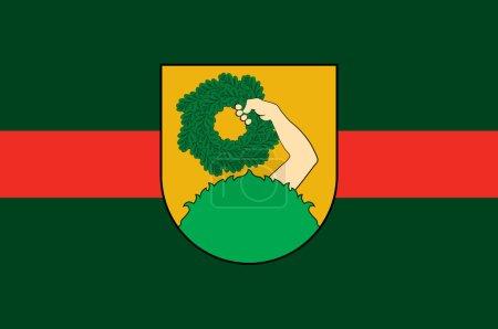 Photo pour Drapeau de Talsi est une ville en Lettonie. Illustration 3d - image libre de droit