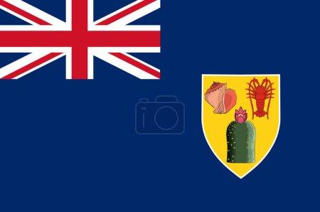 Photo pour Les îles Turques et Caïques sont un territoire britannique d'outre-mer composé des îles Caïques les plus grandes et des îles Turques les plus petites, deux groupes d'îles tropicales dans l'archipel de Lucayan de l'océan Atlantique et dans le nord des Antilles. 3d Illustra - image libre de droit