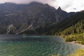 Beautiful landscape of mountain lake. High Tatras. Poland