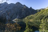 Morskie Oko lake in autumn. Tatra Mountains. Poland