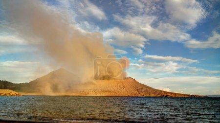 Eruption of Tavurvur volcano, Rabaul, New Britain island, PNG