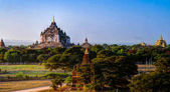 "Постер, картина, фотообои ""Вид на храм Хтиломинло. Баан Мьянма"""