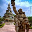 Постер, плакат: Exterior view to the Reunification Monument Yaounde Cameroon