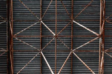 steel roof building bacground industrial