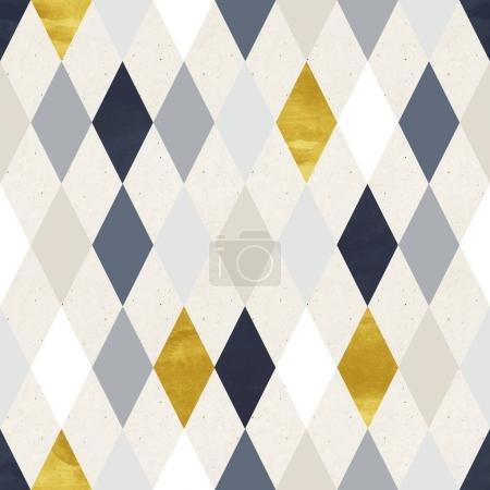 Photo pour Motif géométrique coloré sans couture avec losanges sur la texture du papier - image libre de droit