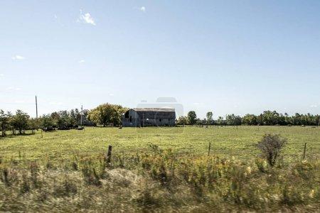 ländliche ontario farm mit scheune silo lagerung landwirtschaft tiere kanada anbau