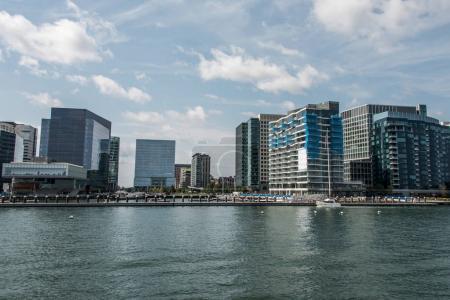 набережной Вид на городской пейзаж Бостон