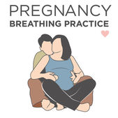 Pregnant Woman in Breathing Exercise Class