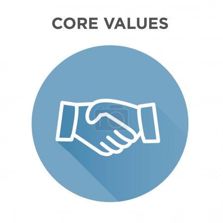 Icône de valeurs de noyau