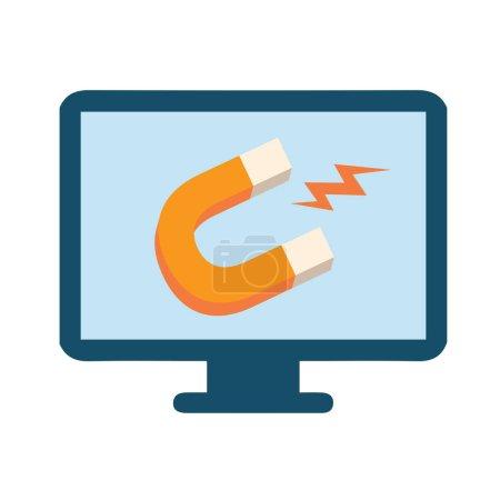 Inbound Marketing Graphic with Magnet