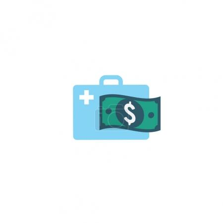 Illustration for Healthcare costs and expenses showing concept with doctor bag - Royalty Free Image