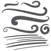 Black squiggle swoosh text font tail - baseball tshirt design