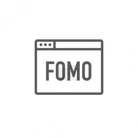 FOMO Icon - Fear of Missing Out Trendy Modern Acronym - Social M