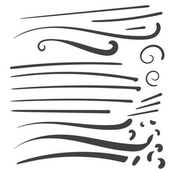 Hand Drawn Black squiggle swoosh text font tail for baseball tsh