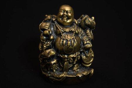 Foto de Estatuilla China Hotei, el Buda de la risa es un símbolo de prosperidad y dinero, - Imagen libre de derechos