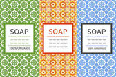 Soap package patterns seamless vector Vector set of design elements for soap labels and wrapping paper and box Organic and handmade soap design package templates