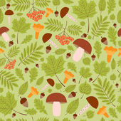 Green forest pattern vector seamless