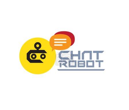 Illustration pour Chat Robot Logo Design Concept. Ai 10 pris en charge. - image libre de droit