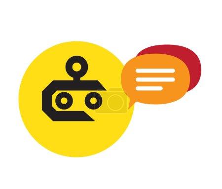 Illustration pour Chat Robot Design Concept. Ai 10 pris en charge. - image libre de droit