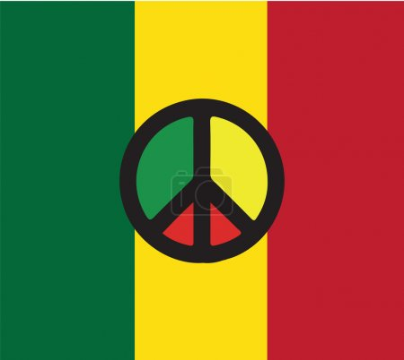 Illustration pour Reggae Culture Concept Design. Ai 10 pris en charge. - image libre de droit